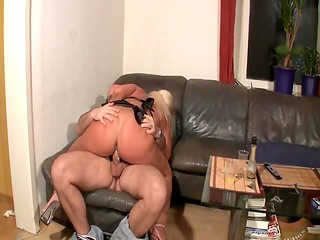 Adorable blonde wench cheated her boyfriend when she fucked a strange dude