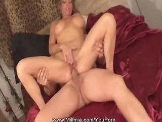Beautiful blonde MILF lets her boyfriend drill the asshole after exciting oral foreplay