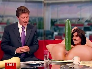 Brunette Susanna Reid teaches how to use sex toys