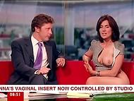 Brunette Susanna Reid teaches how to use sex toys 5