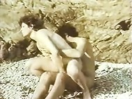 Mesmerizing woman feels sexual freedom with her horny lover on the beach