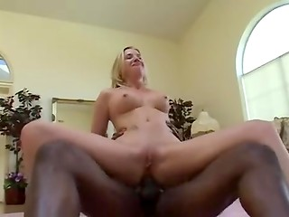 Strong black man with long dick fucks Taylor Lynn in her butt