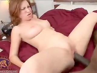 White redhead girlfriend meets giant black cock for the first time in her sexual life