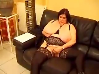 Mature plump women with enormous boobs having crazy group sex