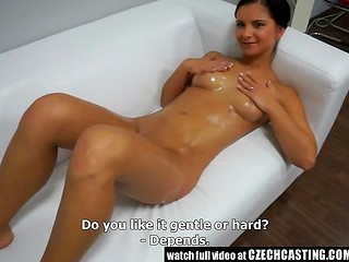 Good-looking Czech wench with nice body is fucking only depending on her mood