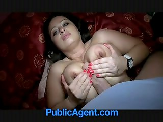 PublicAgent: busty Czech brunette with big boobs believes agent's promises and sleeps with him