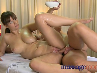 Masseuse with sad face satisfying her client