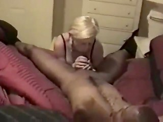 Black guy with big dick fucks his friend's slutty wife