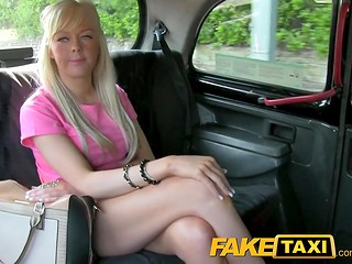 FakeTaxi: slutty blonde wants to get money and free taxi ride