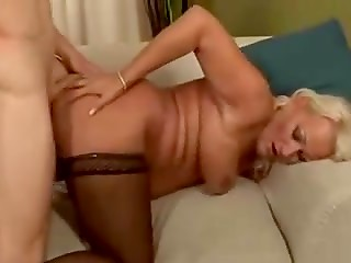 Mature blonde bitch still loves to get a dick in the asshole