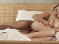 Hot boyfriend and his superb blonde babe enjoy morning anal sex 9