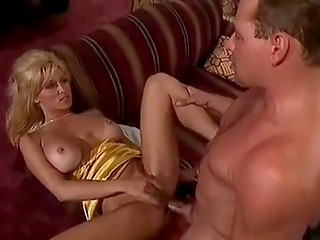 Sexy tanned blonde Jill Kelly gets her asshole stretched by dick