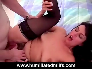 Sultry brunette with big tits was very bad, her punishment is here