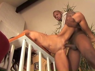 Petite hottie Trinity gets black cock in her pussy and a lot of sperm