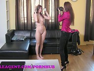In order to get a well-paid job this chick needs to be nailed with a strap-on in the casting 4