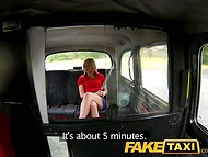 Blonde MILF took a taxi because she didn't know that she have to pay with her mouth and pussy 4