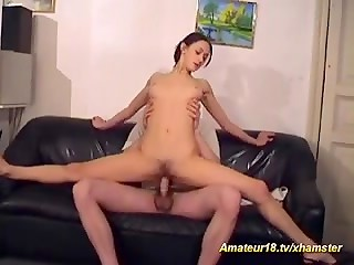 Young flexible slut gets banged in kinky positions