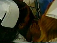 Black-skinned nurses pleasing their handsome doctor by giving him a blowjob 4