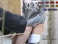 Nice Korean pussy enjoys hard fast fuck in public 9