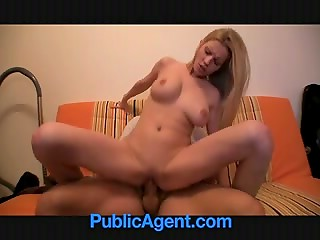 PublicAgent: long-haired Czech blonde earns money and gets her tight pussy inseminated