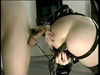 Arrogant MILF makes this guy cum in her lewd mouth in the real XXX video