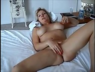 Blonde MILF and her husband have sex in front of the camera to shoot homemade video