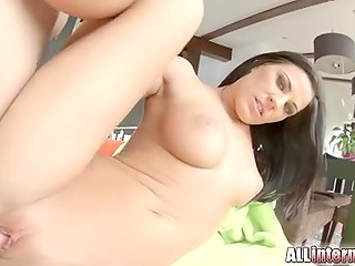 Awesome hot sex scene by handsome brunette and athletic stranger
