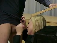 His oratory skills suffer because of hot blonde's oral talents 5