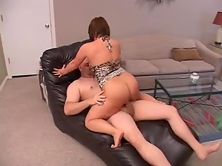 Short woman with tiny little cunt doing anal and getting facial