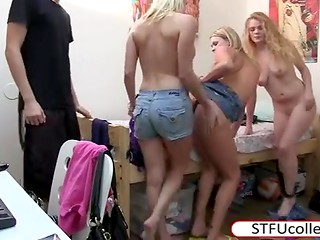 Young chicks and handsome boys organized a crazy sex party and filmed this action on the amateur camera