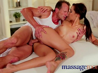 Sex with masseur helps relieve Silvie's neck pain