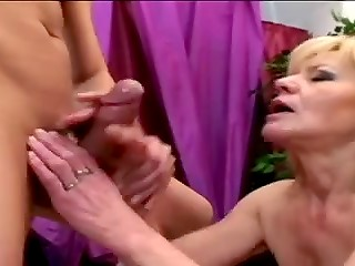 Passionate mature with skinny body and small natural tits is ready to have sex with her younger partner