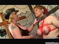 Hardcore fetish scene with all necessary things by two fat amateur Latina MILFs