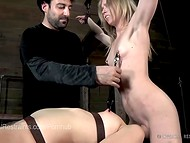 Две очаровательные малышки подвергаются жёстким пыткам в фетиш порно сцене 11