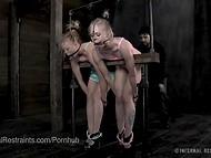 Две очаровательные малышки подвергаются жёстким пыткам в фетиш порно сцене 5