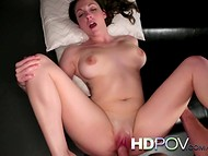 Magnificent quean with nice unshaved pussy gets wildly fucked by her hungry lover