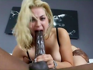 Ebony guy with big knob bangs blonde Sarah Vandella in her twat