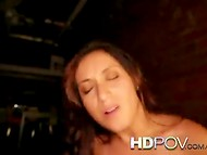 Busty brown-eyed Latina chick with appetizing butt gets pounded in the POV video 6