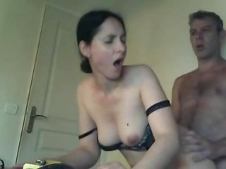 Brunette wife knows, that her friends films fucking on the camera and decided to try her hand