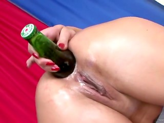 Pretty young brunette's extreme anal perversions