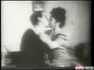 Vintage sex scene from old porn movie
