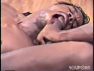 Two brutal black skinned guys fuck each other's asshole and suck dicks in vintage porno scene 8