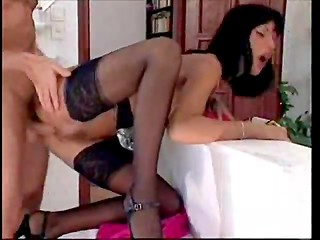 Magnificent brunette actress Anita Blonde has hot sex scene with the owner of the apartment