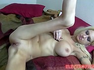 Skinny MILF with huge tits and dirty dreams prefers to be creampied right in her wet asshole