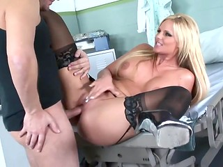 Adorable busty patient fucks shamelessly in hospital