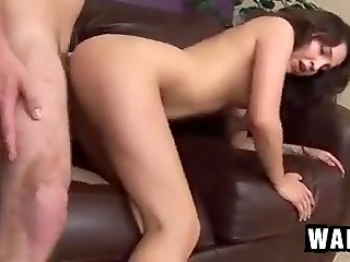 Charming young girl getting naughty, giving head and fucking