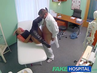 FakeHospital: young pretty girl can't get pregnant, horny doctor will help her