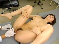 Amazing Asian lady fucking her naughty doctor and getting delicious cum on face