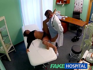 FakeHospital: redhead model Bella decides to remove her tattoos, doctor helps her and fucks her pussy