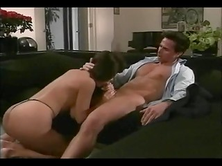 Elegant and sexy brunette MILF Lili Xene makes love to her fucker named Peter North